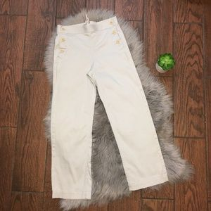 (J. Crew) Sailor Button Front Chino Pants